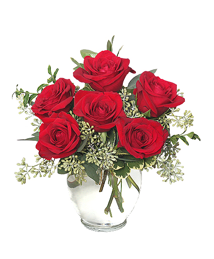 Superieur Rosey Romance Red Rose Bouquet RO00807.425